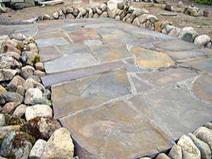 stone patio stone mason wood fired oven lopez island orcasisland san juan island